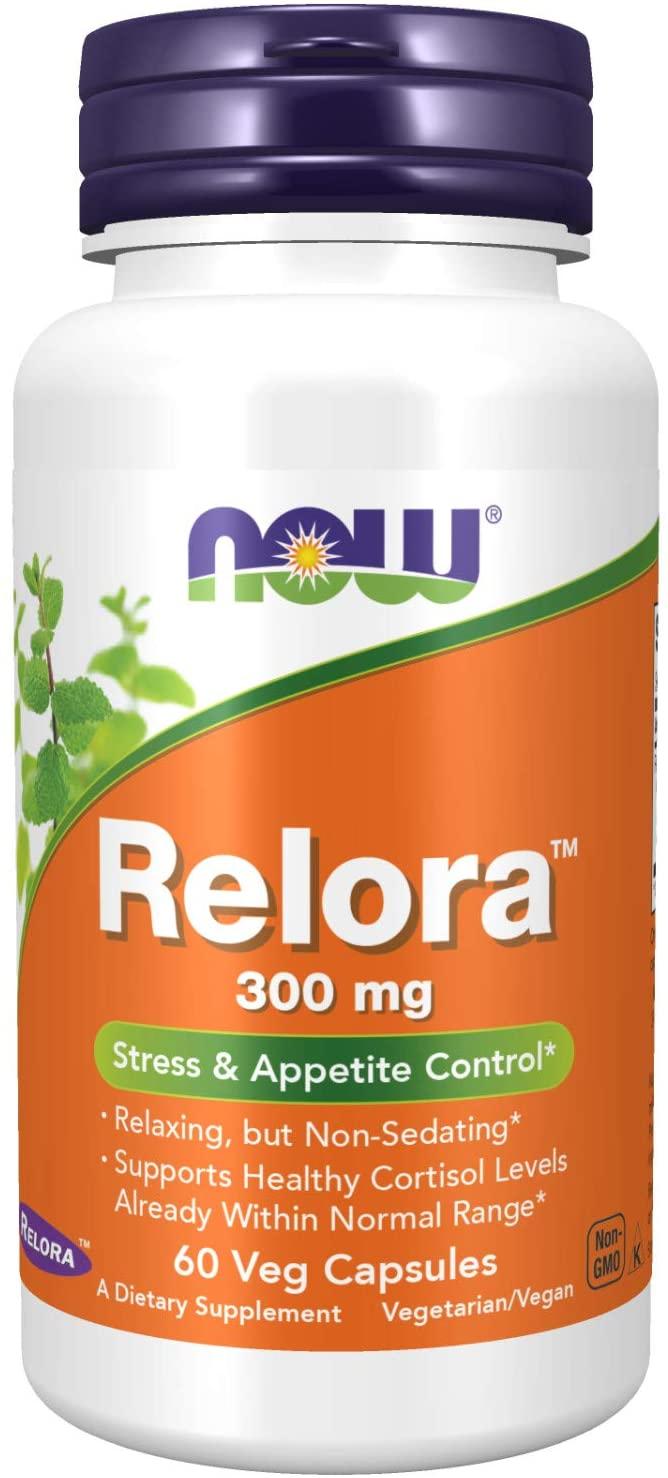 Relora 300mg - NOW Controlador De Apetite E Stress 300mg (60 Cápsulas)