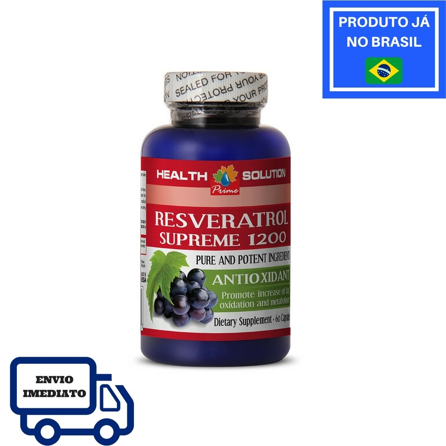 Resveratrol Supreme 1.200mg - Health Solution (60 Cápsulas)