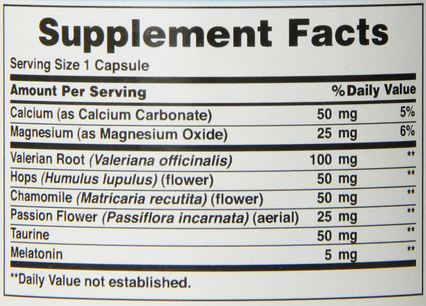 Super Snooze com Melatonina - Puritans Pride (100 Tabletes)
