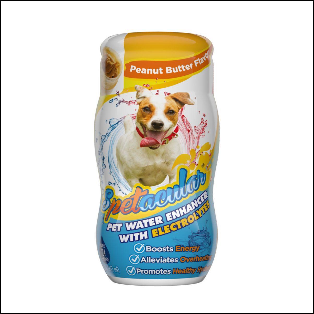 Vitaminas para Cães - Spetacular Water Enhancer com eletrólitos - sabor de manteiga de amendoim