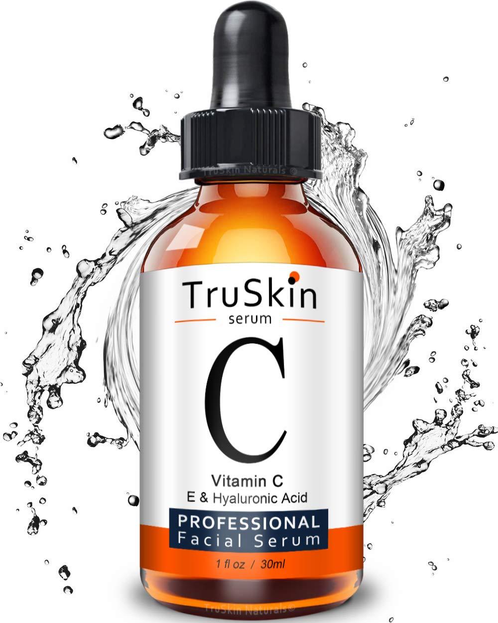 TruSkin Vitamina C, E Serum, Ácido Hialurônico (30ml)