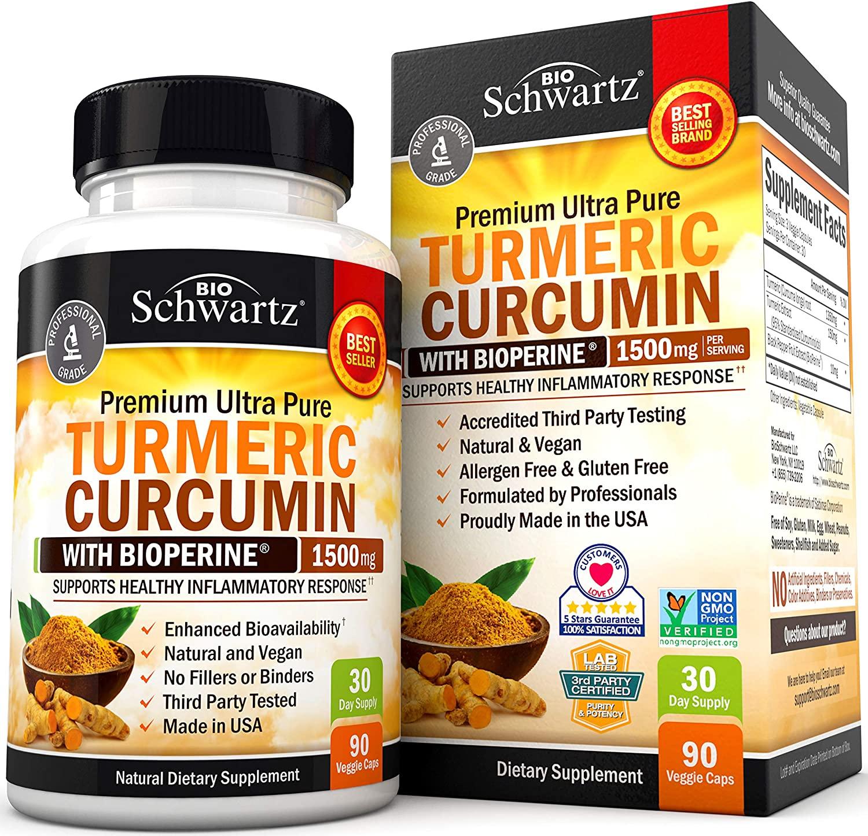 Turmeric Curcumin Com Bioperine - Bio Schwartz 1500mg (90 Cápsulas)