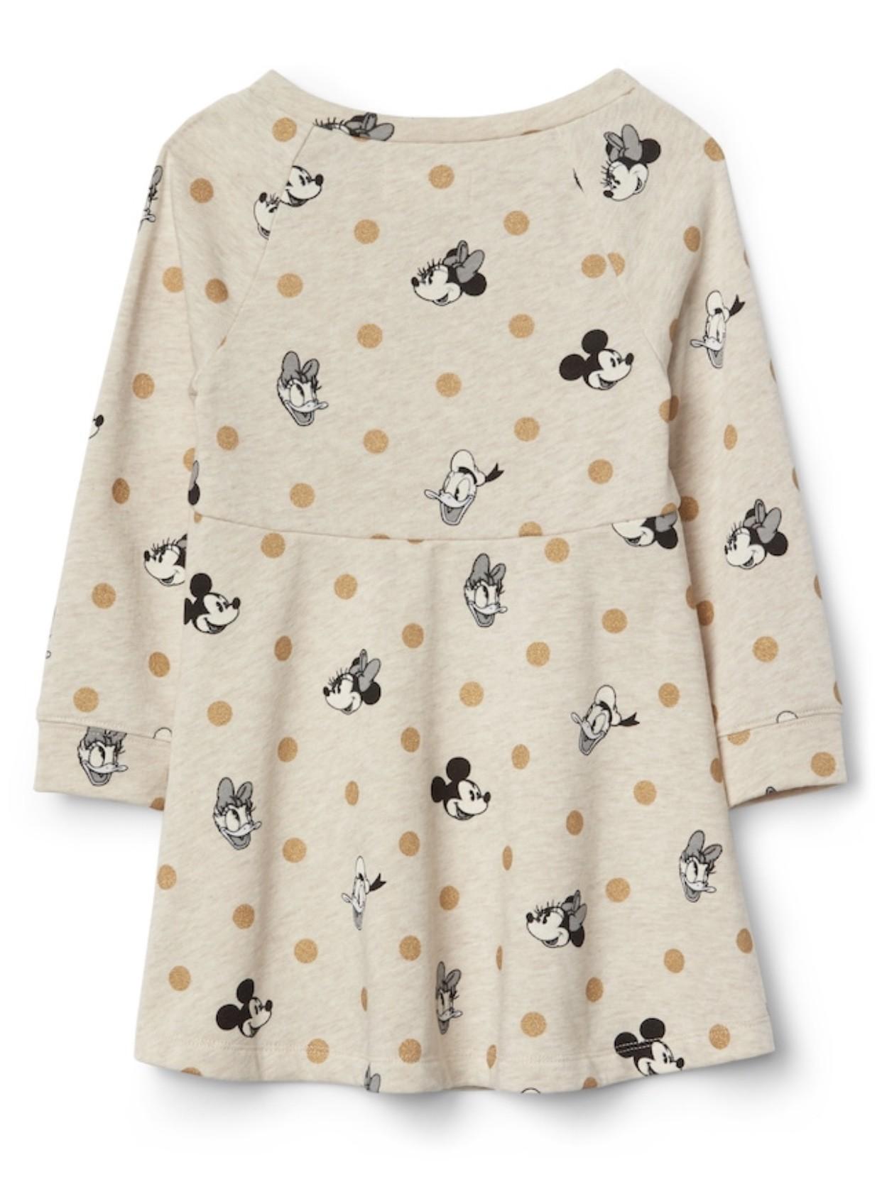 Vestido Baby GAP - Coleção Disney - Moletom Nude
