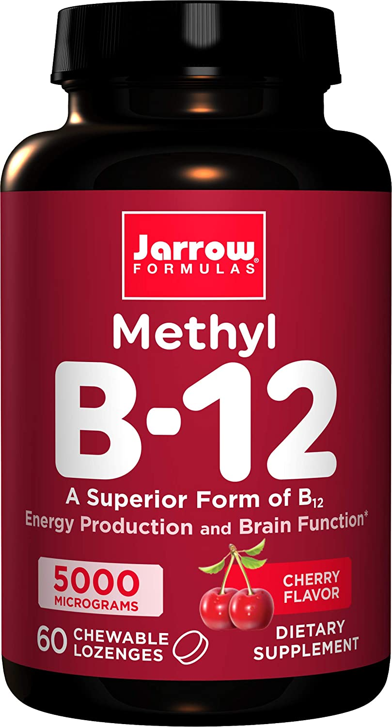 Vitamina B12 - Methyl - Jarrow - Sabor Cereja 5.000mcg (60 Tabletes)