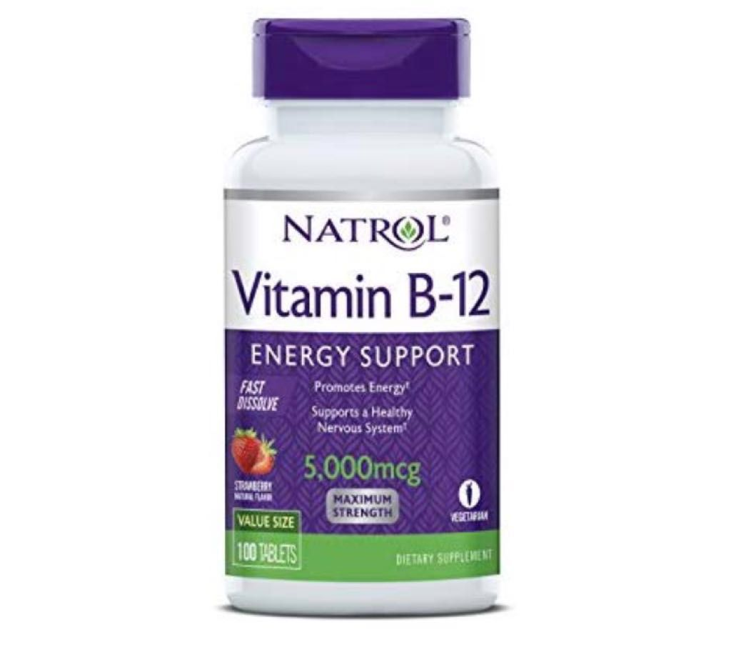 Vitamina B12 - Fast Dissolve - Natrol - Sabor Morango 5.000mcg (100 Tabletes)