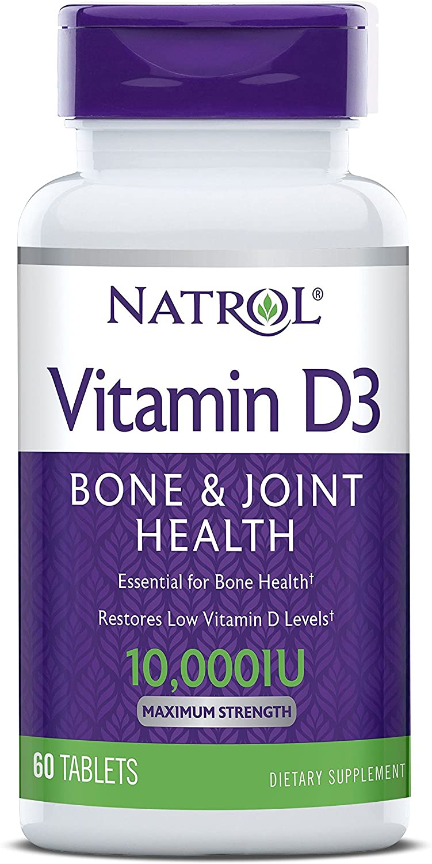 Vitamina D3 10.000IU - Natrol (60 Tabletes)