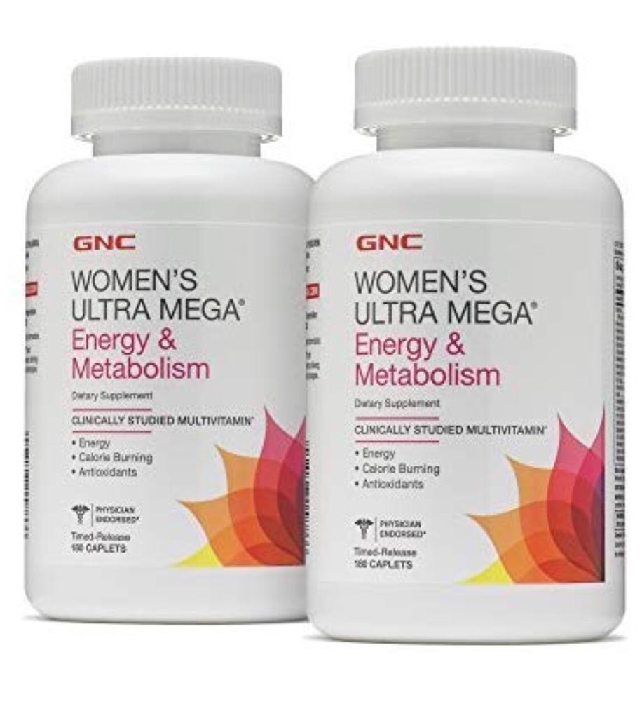 Women's Ultra Mega - GNC Energia e Metabolismo (180 cápsulas)