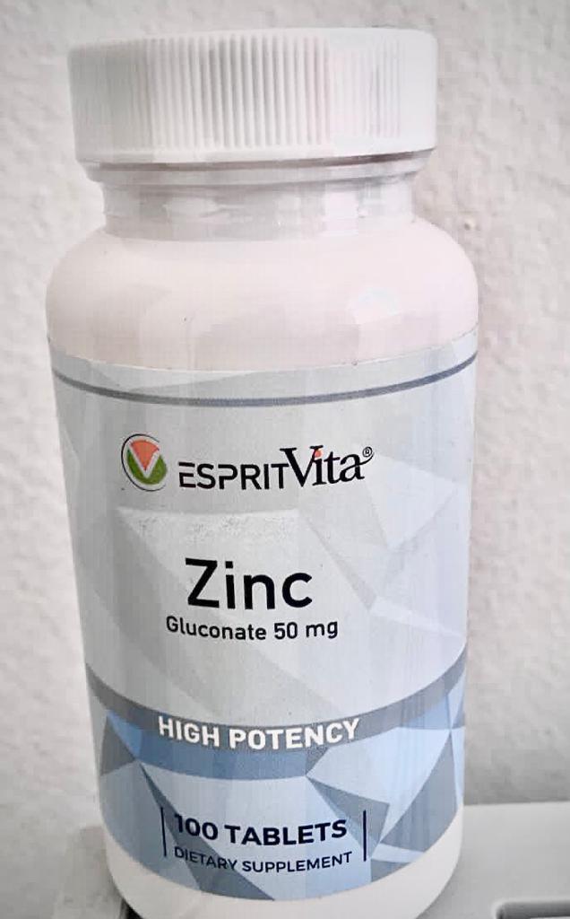 ZINCO - Esprit Vita - 50mg - 100 tabletes