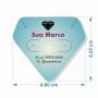 Tag Personalizada Conjunto Brinco e Cordão Diamante - 4,8x4,25 cm