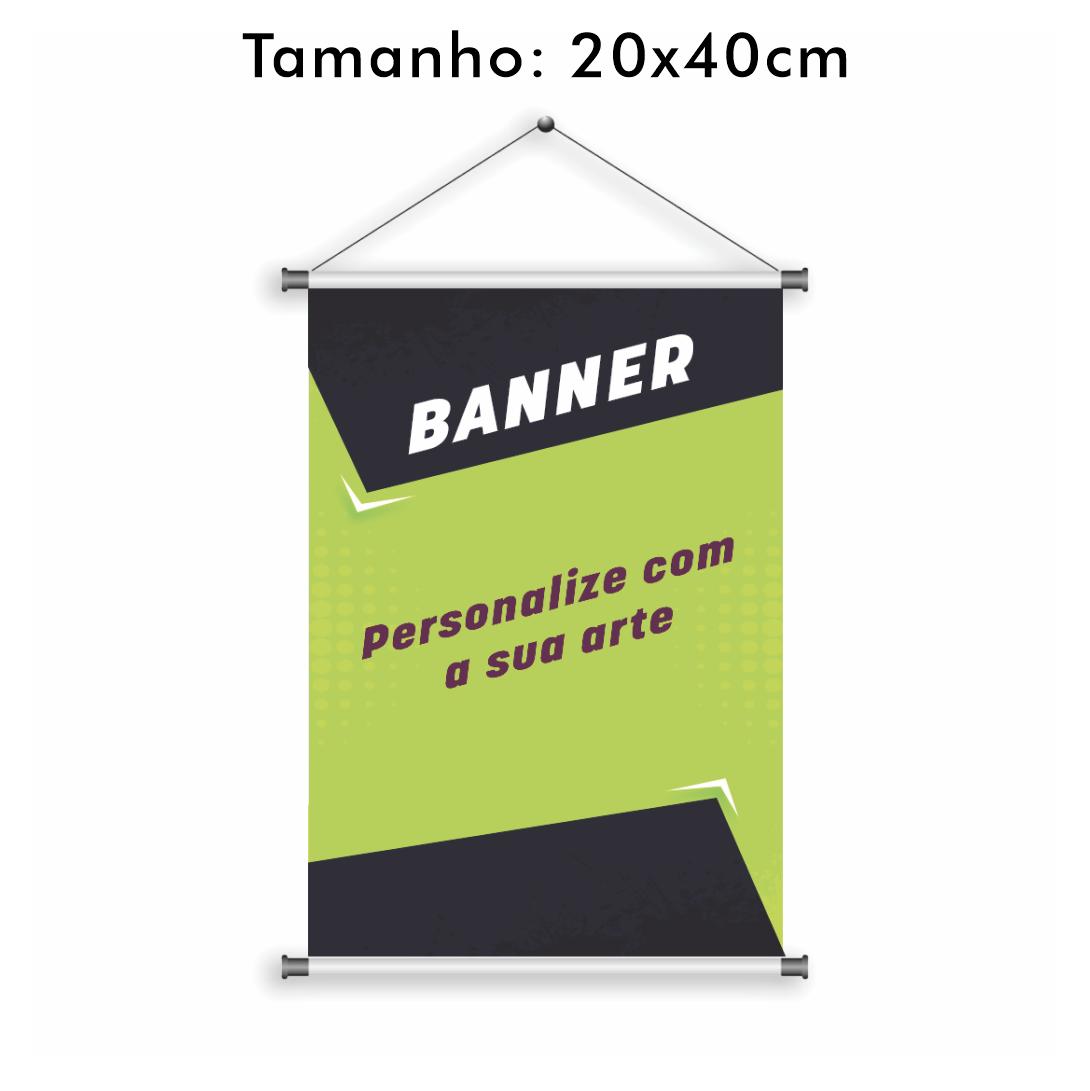 Banner Personalizado 20x40cm