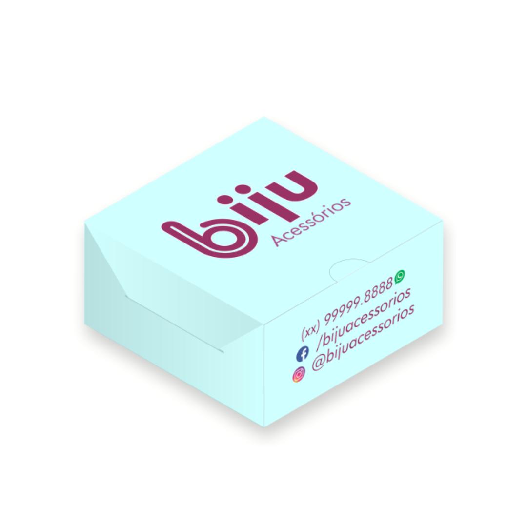 Mini Caixa Personalizada bijus, joias, acessórios  - 4,3x4,3x2 cm