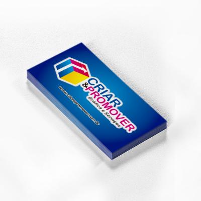 Cartão de Visita Papel 300g Brilho Frente - 4,8x8,8 cm