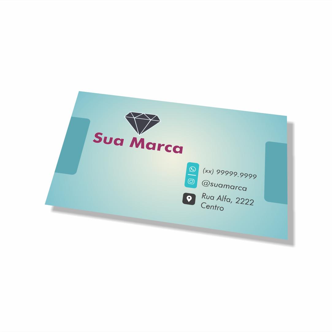 Cartão de Visita Personalizado - 4,8x8,8 cm