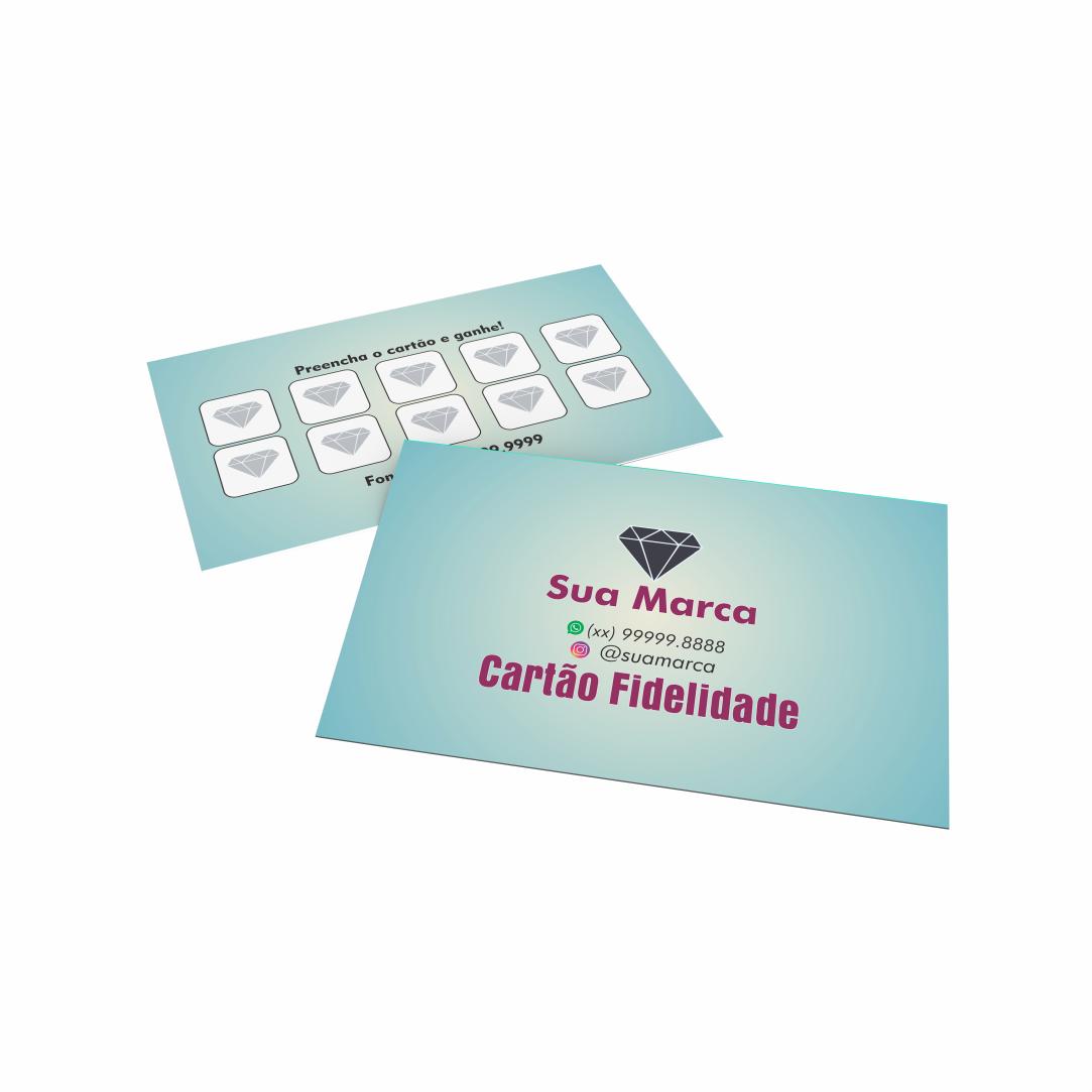 Cartão Fidelidade Personalizado - 4,8 x 8,8cm