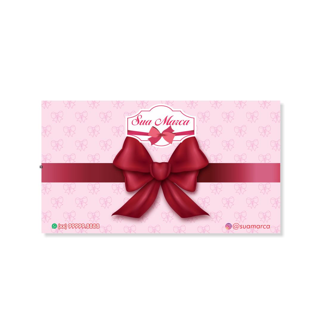 Cartela Personalizada para Laços de Faixa - 10x18 cm
