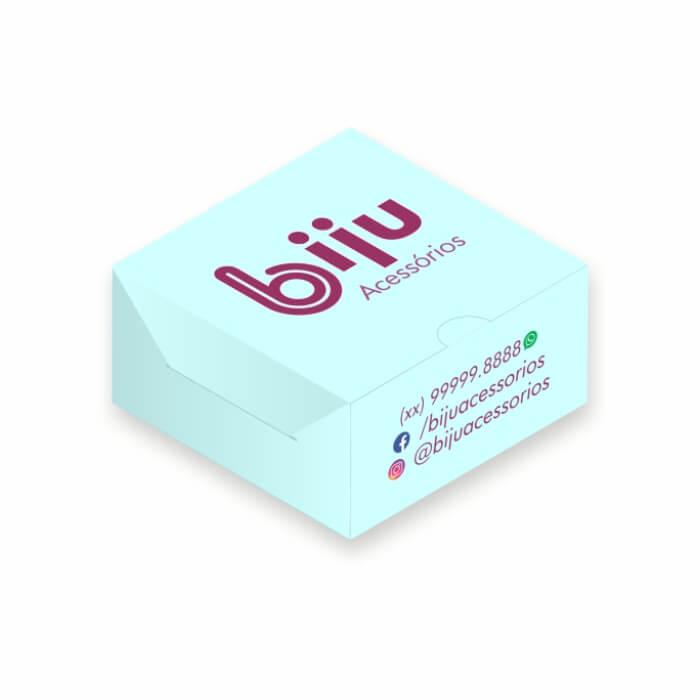 Mini Caixa para Joias Personalizada - 4,3x4,3x2 cm