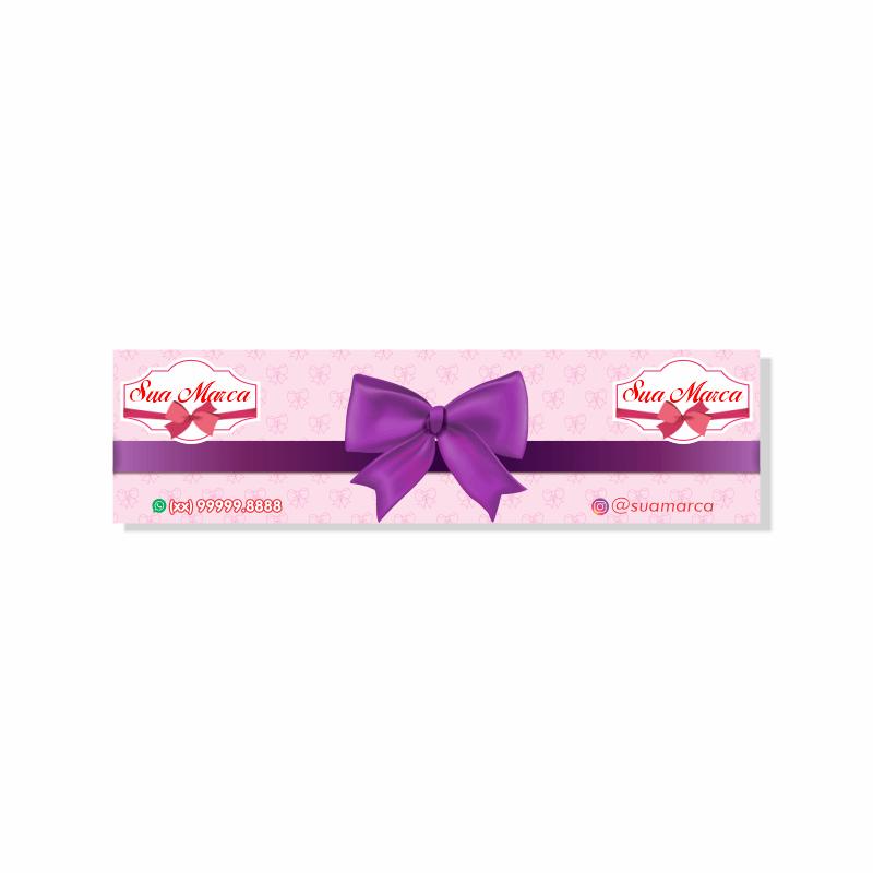 Tag para Laços de Faixa Personalizada - 4,8x17,9 cm