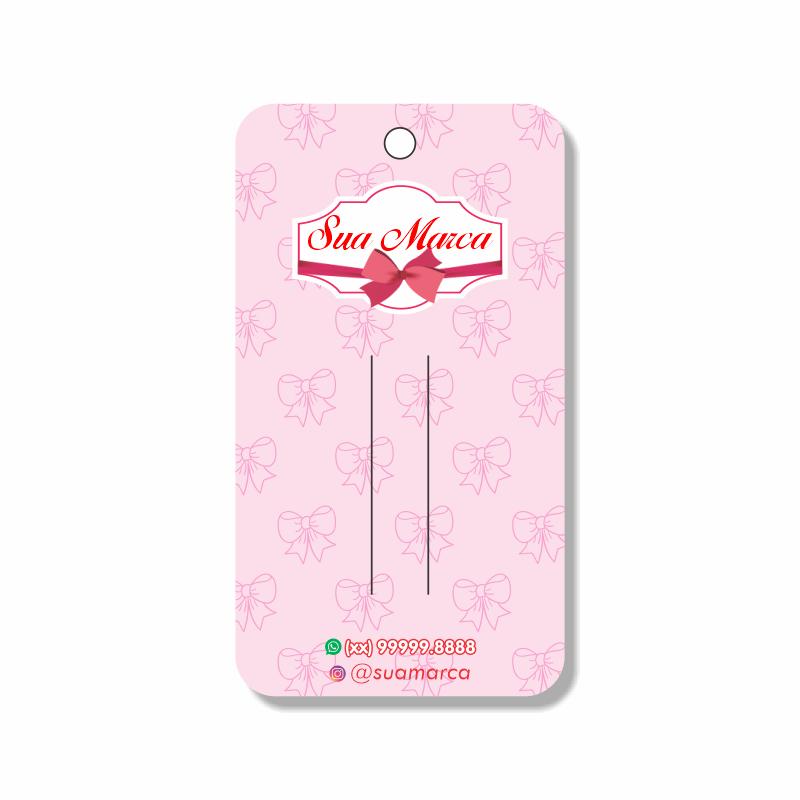 Tag para Laços Personalizada - 10x18 cm
