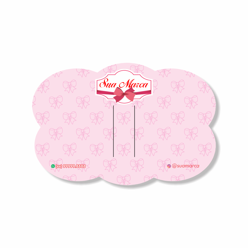 Tag para Laços Personalizada Nuvem - 10x15 cm
