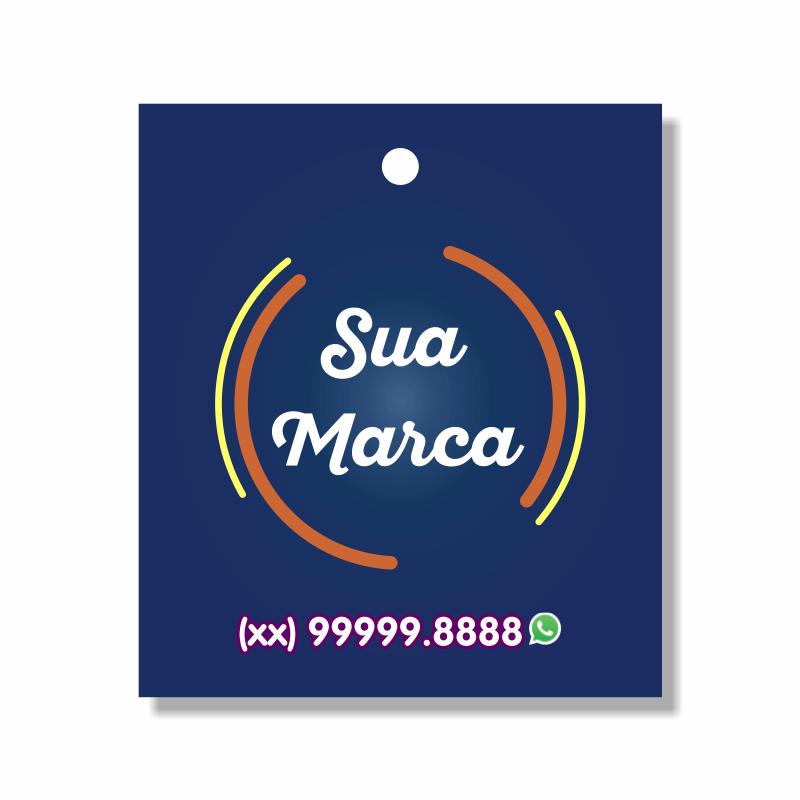 Tag Personalizada para roupas - 4,25x4,8 cm