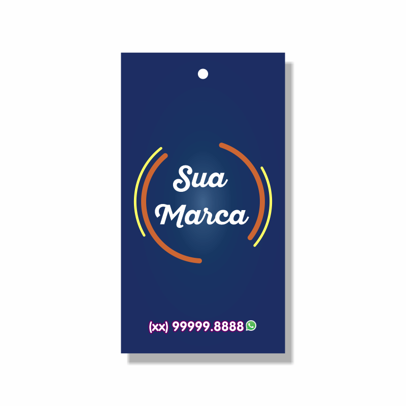 Tag Personalizada para roupas - 4,8x8,8 cm