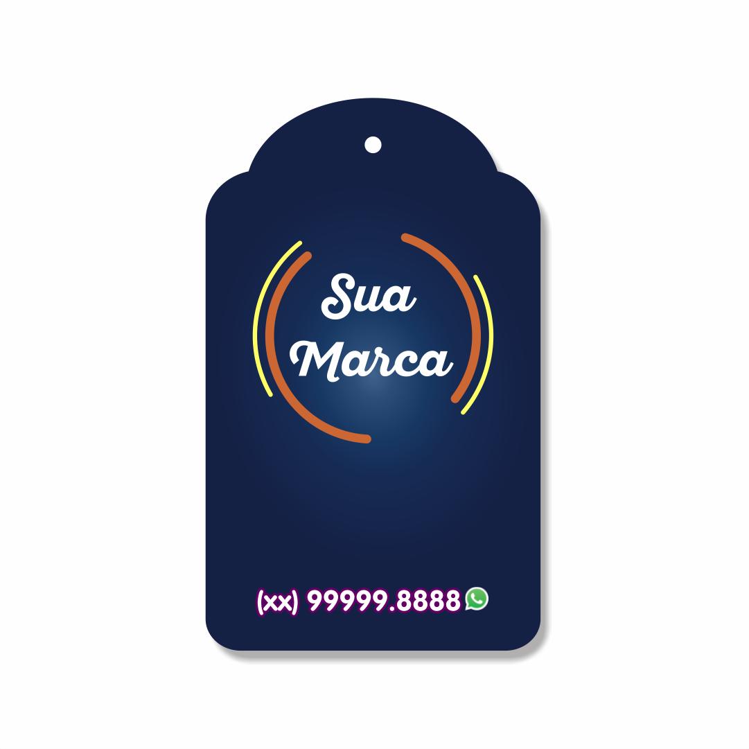 Tag Personalizada para roupas - 6x9,9 cm