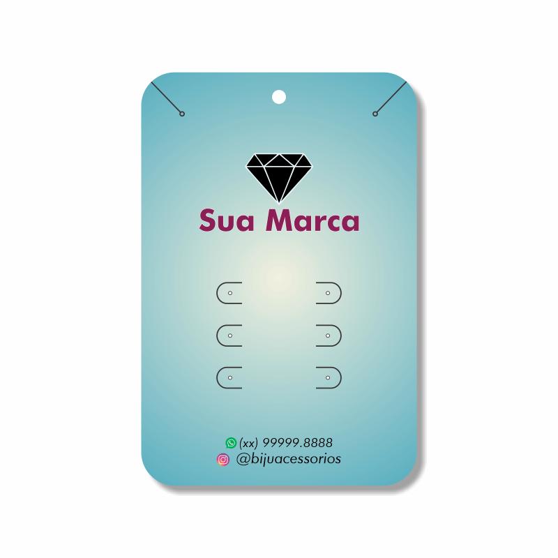 Tags para Brincos Personalizados e Cordões Finos - 10x15 cm