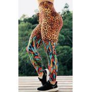 Calça Legging Onçinha Animal Print Afric