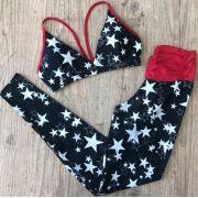 Conjunto Estrelas Preto Empina Bumbum