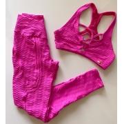 Conjunto Fitness Wave Max New Pink