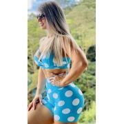 Conjunto Poá Empina Bumbum Azul Tiffany