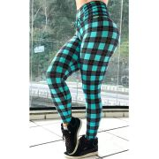 LEGGING GREEN RED LINE CÓS DRAPEAD