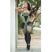 Macacão Fitness Verde Martial