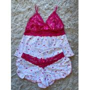 Shortdoll Renda Pink