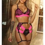 Strappy Pink Neon com Cinta