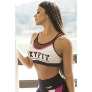 TOP OXYFIT TAN PRETO/BRANCO/PINK