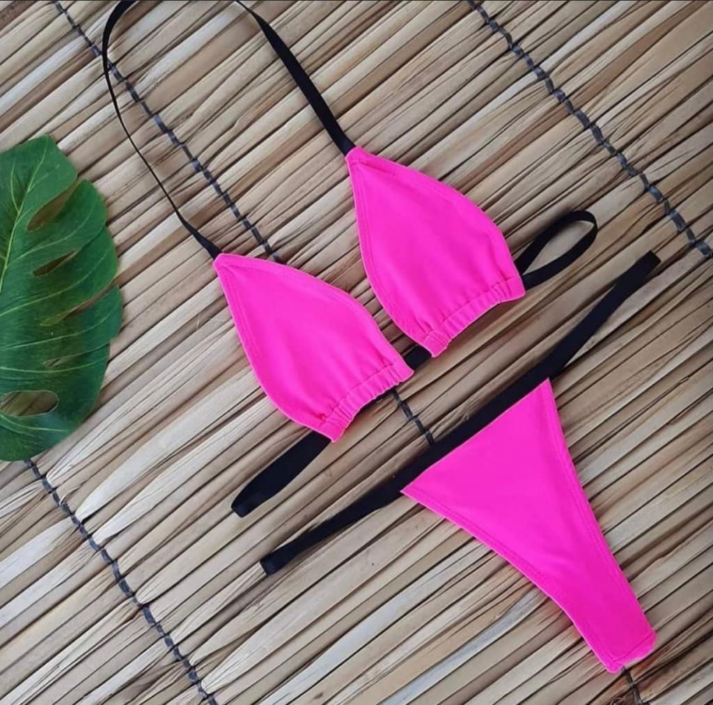 Biquini Marquinha Rosa Neon