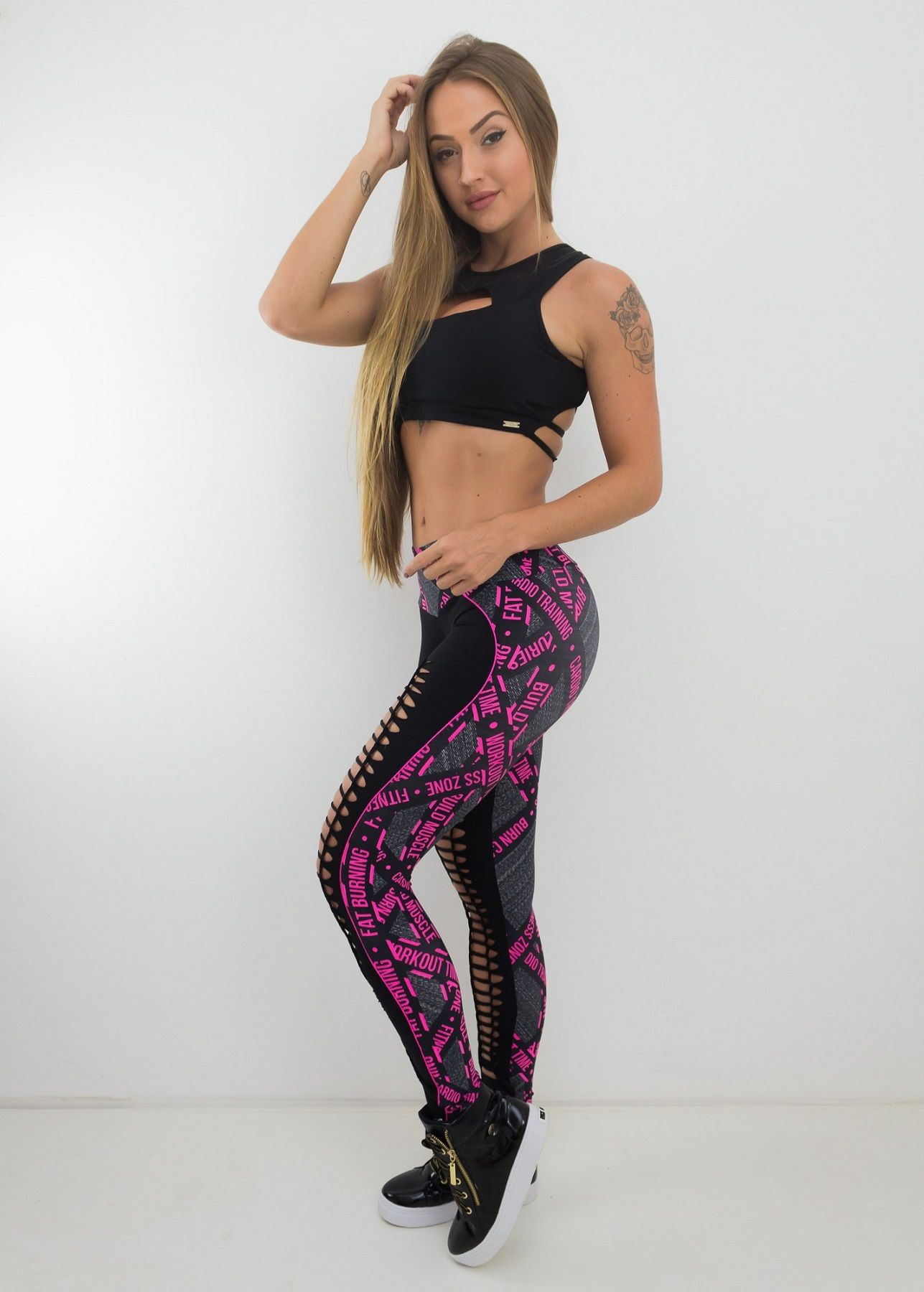 CALÇA LEGGING BACKWARDS BRAIDED FRISO WORKOUT TIME