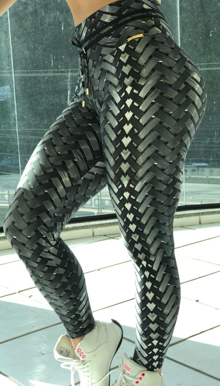 Calça Legging Bumbum Franzir Iron