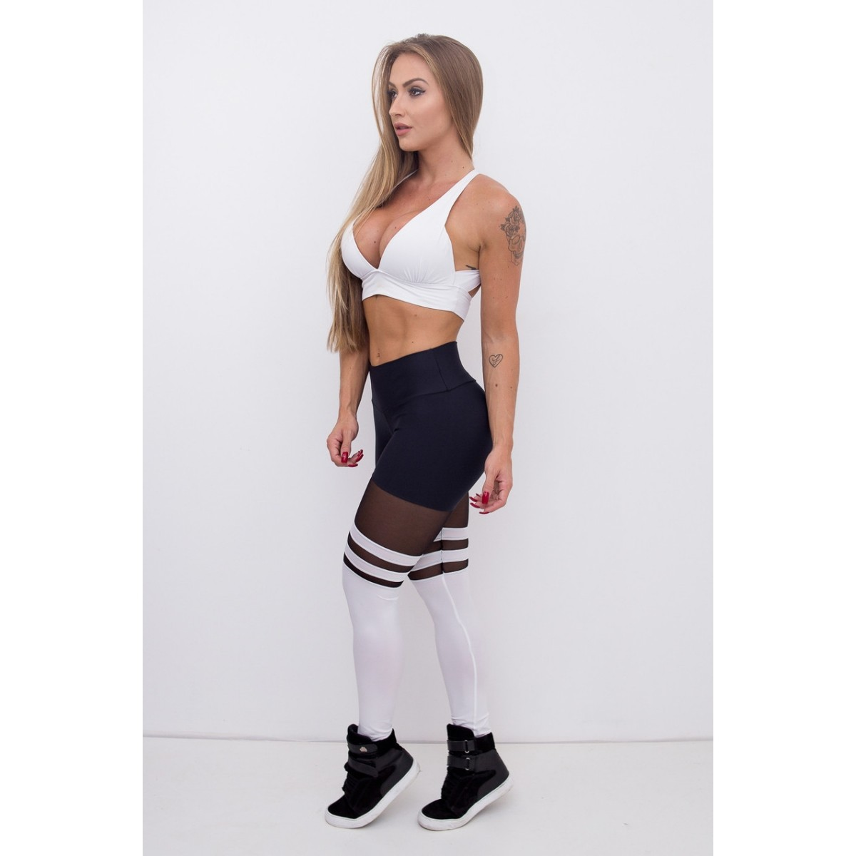 CALÇA LEGGING DEEP COLLEGE PRETO