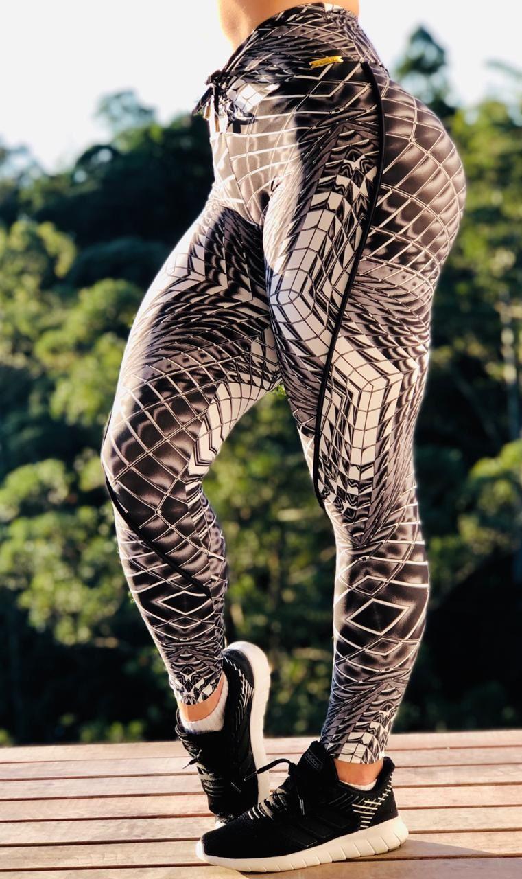 Calça Legging Detail Bumbum Franzir