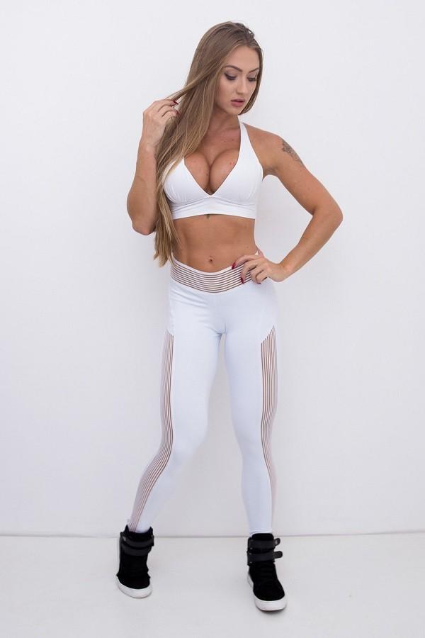 Calça Legging Elastic Emana Branca