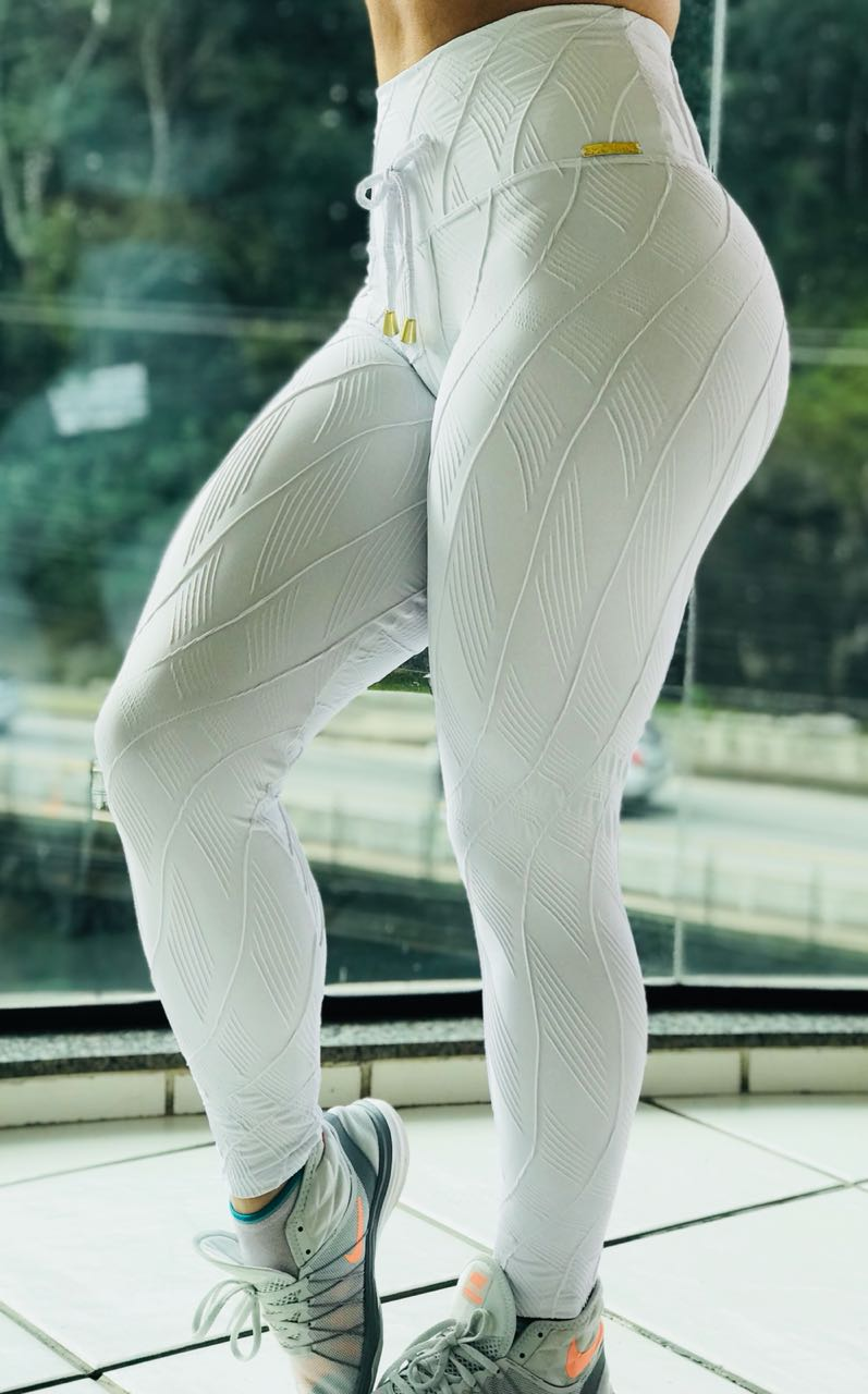 CALÇA LEGGING JACQUARD WHITE ONE