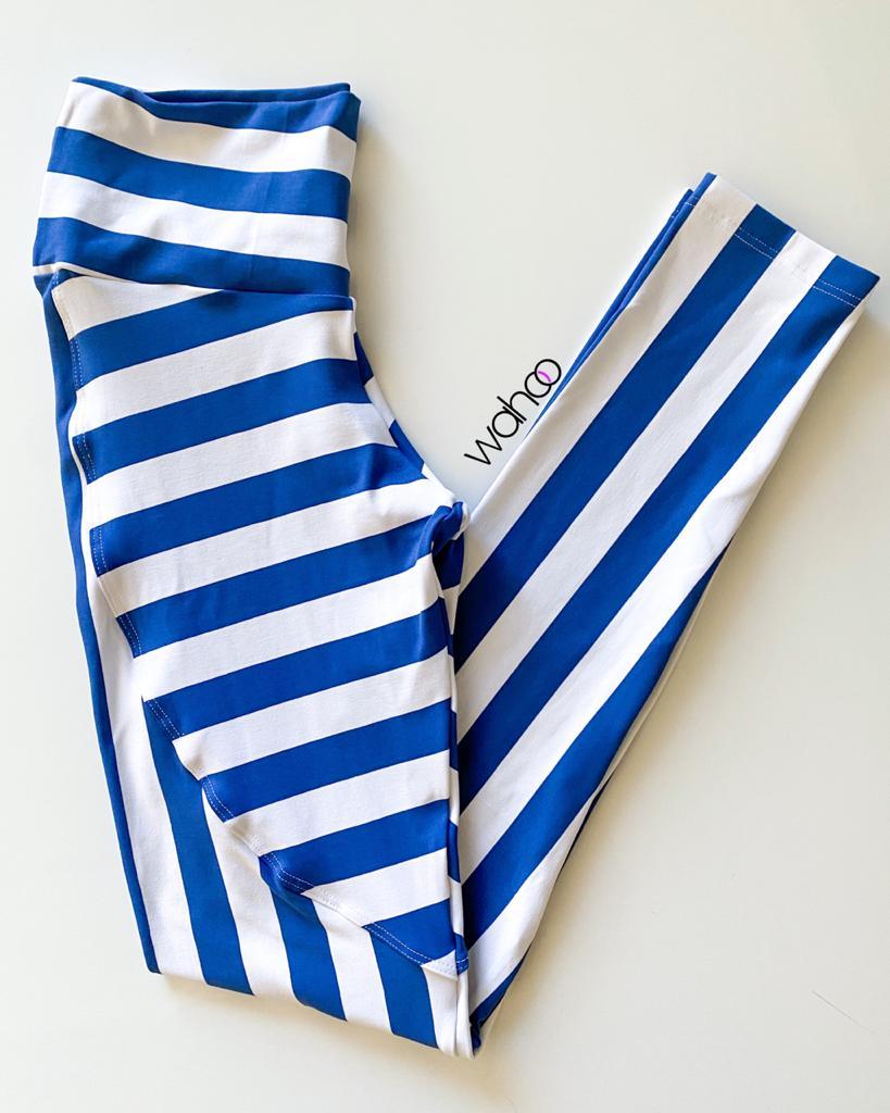 Calça Legging Listrada Blue