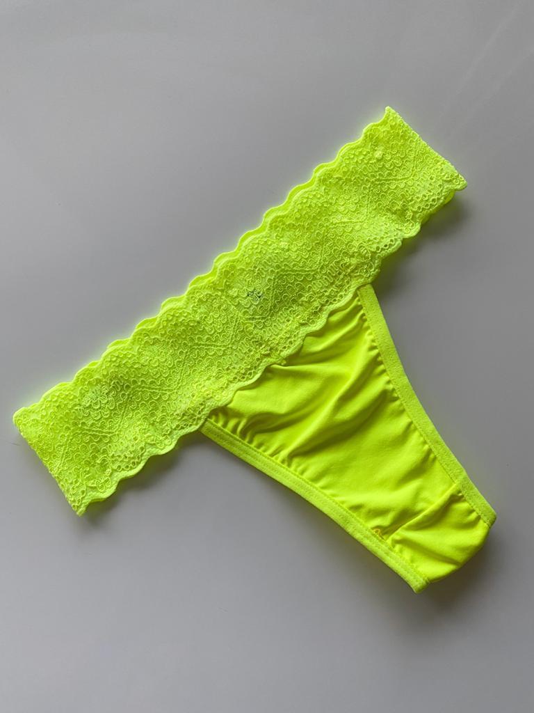 Calçinha Tradicional Verde Neon