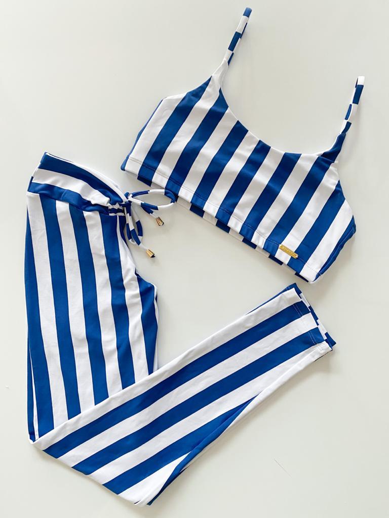 Conjunto Empina Bumbum Listrado Azul