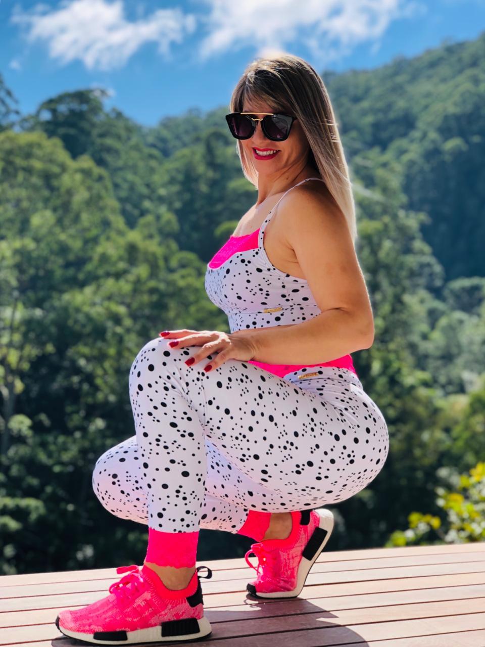 Conjunto Fitness Renda-se Rosa Poá