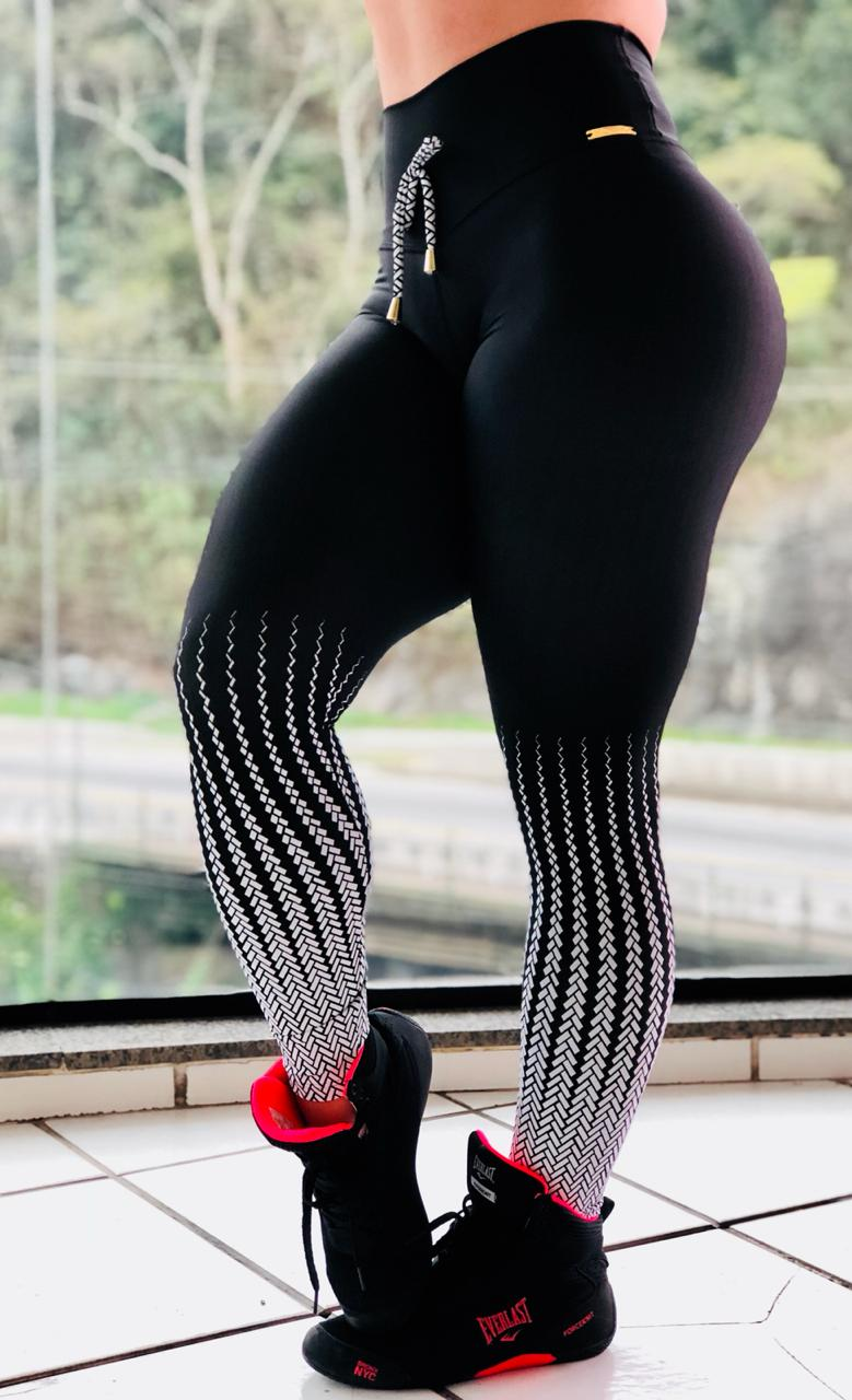 LEGGING BLACK ZIP DOWN