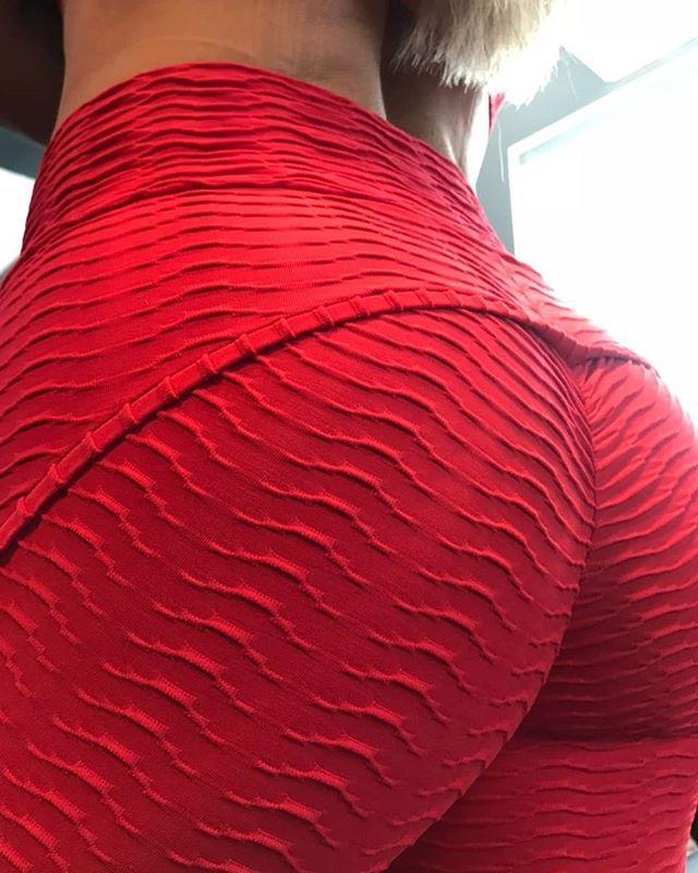 Legging Empina Bumbum Wave Max Vermelha