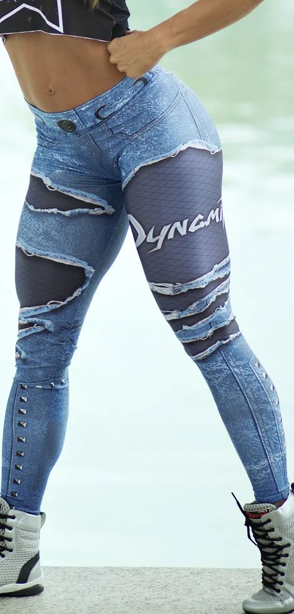 Legging Fake Jeans Placebo Denim